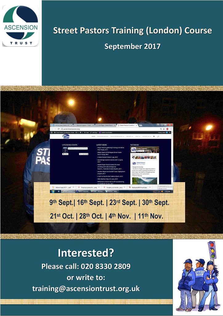 Street Pastors Training (London) Course